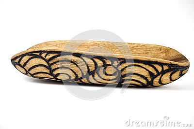 Aboriginal wooden tool, upside down