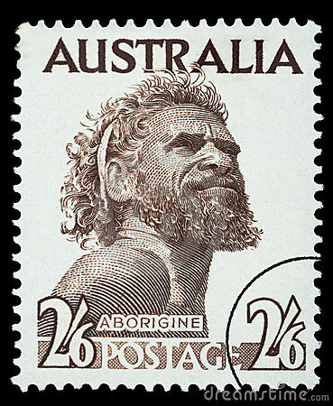 Aborigine Man Postage Stamp Editorial Image