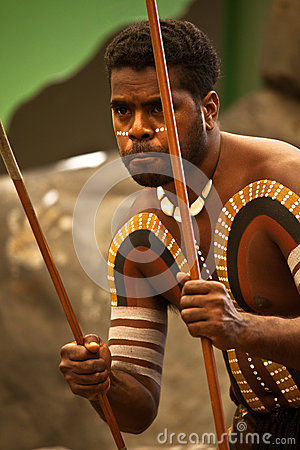 Free Aborigines Actor At A Performance Stock Photography - 40499532