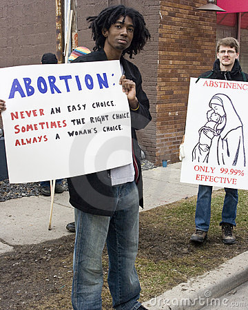 Abortion Rights Rally Editorial Stock Photo