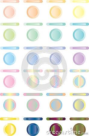 Abotone, sistema de botones ligeros de rojo, azules, verde.
