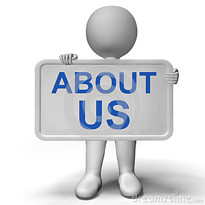 Free About Us Sign Showing Company Profile And Information Stock Photography - 29592572