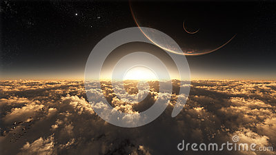 Above The Clouds In Space