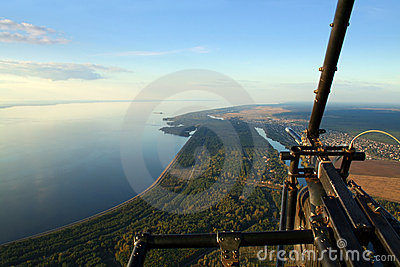 Above earth on a hang-glider