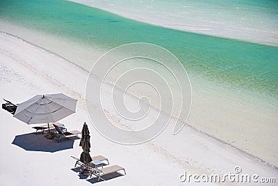 Above view of beach resort