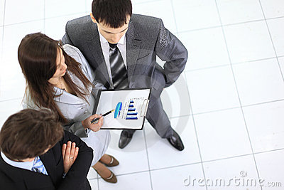 Above view of business partners