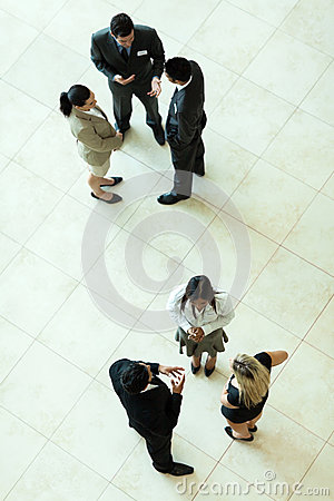 Above view meeting