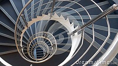 Abr g sur spiral hypnotique escaliers photo stock for Escalier spirale