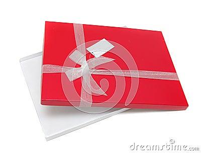 Abra a caixa de presente vermelha