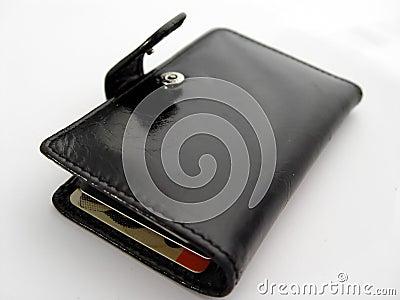 Abra a carteira preta