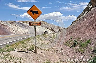 Abra el rango - Utah meridional