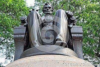 Abraham Lincoln dat het Park van de Toelage onder ogen ziet