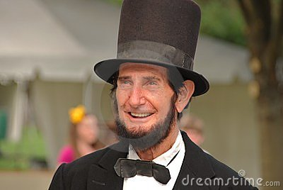 Abraham Lincoln smiling Editorial Image
