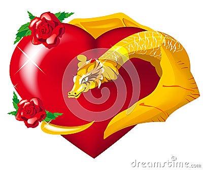 La dragona de san Andrés muestra su corazoncito