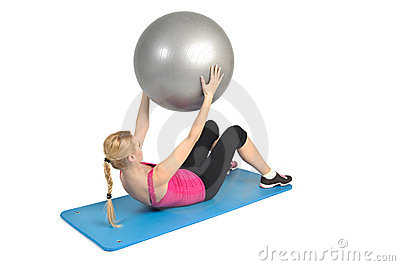 Abs exercise with fitness ball