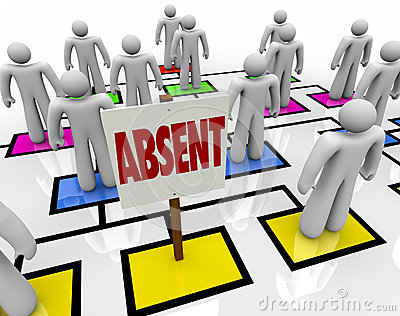 Absent Person on Organizational Chart - Lateness or Tardiness