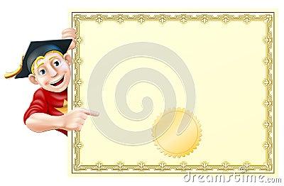 Absolvent und Zertifikat