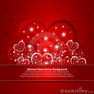 Absract background with hearts
