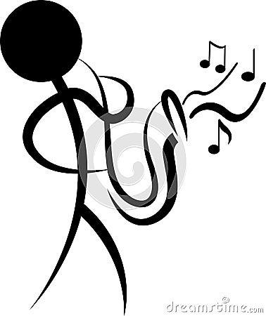 Absract musician