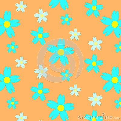 Absract summer floral seamless pattern Stock Photo