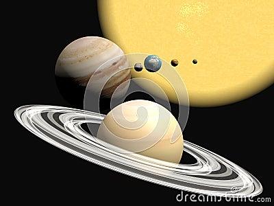 Abstact ηλιακό σύστημα παρουσία
