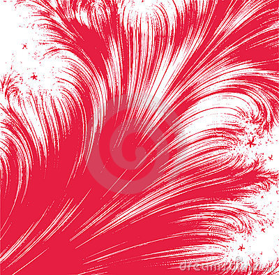 Abstarct red feather background