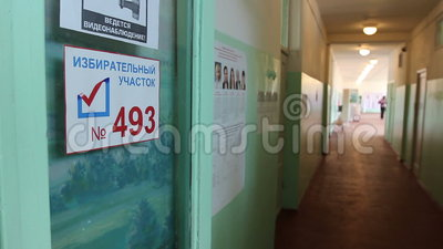 Abstimmung in der Wahl in Russland stock video