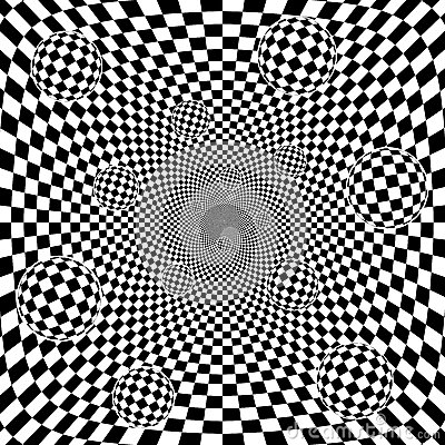 Abstract 3d black and white chess pattern backgrou