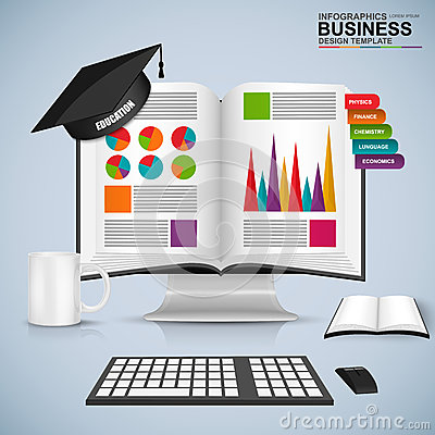 Free Abstract 3D Business Book Education Infographic Royalty Free Stock Photos - 59083778