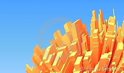 Abstract 3d city