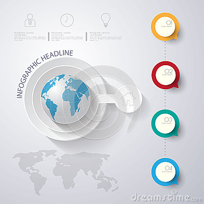 Free Abstract 3D Digital Illustration Infographic With World Map.Can Royalty Free Stock Images - 59797079