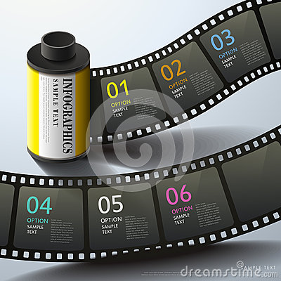 Free Abstract 3d Film Infographics Stock Images - 35612104
