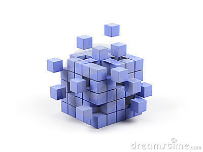 Abstract 3d illustration of cube.