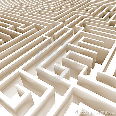 Abstract 3D labyrinth