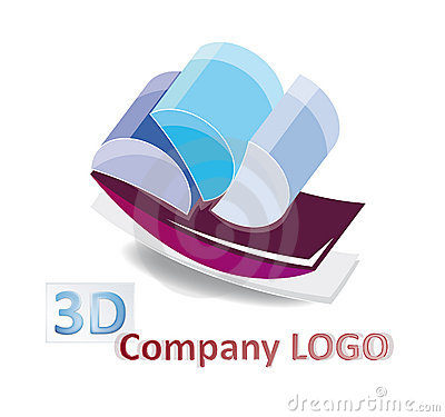 Abstract 3d logo