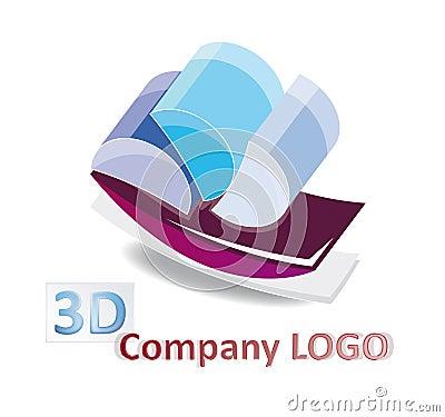Abstract 3d logo