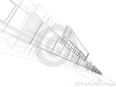Abstract 3D office building