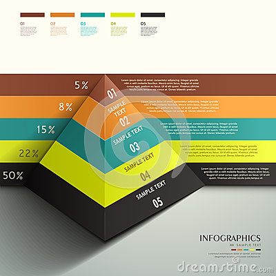 Free Abstract 3d Pyramid Infographics Stock Images - 35468544
