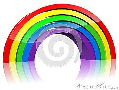 Abstract 3D rainbow
