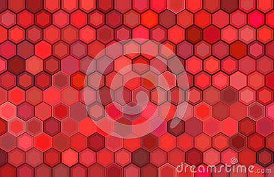 Abstract 3d render backdrop in red