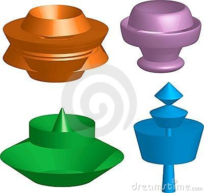 Free Abstract 3D Shapes Royalty Free Stock Photos - 15572468