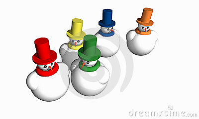 Abstract 3D snowmen