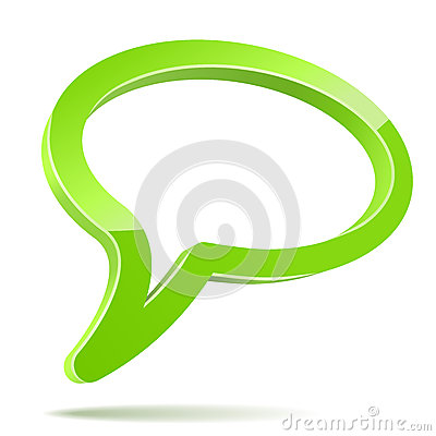 Free Abstract 3D Speech Balloon Stock Photography - 27019902