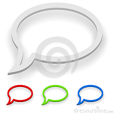 Free Abstract 3D Speech Balloon Stock Image - 42112121