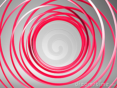 Abstract 3d spiral background