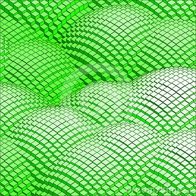 Abstract 3d vector background green mountains