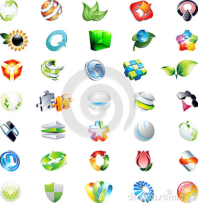 Abstract 3d vector icons logos