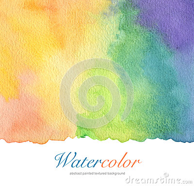Free Abstract Acrylic And Watercolor Brush Strokes Painted Background Stock Photography - 61617972