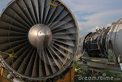 Abstract airplane engine