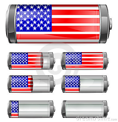 Abstract america battery